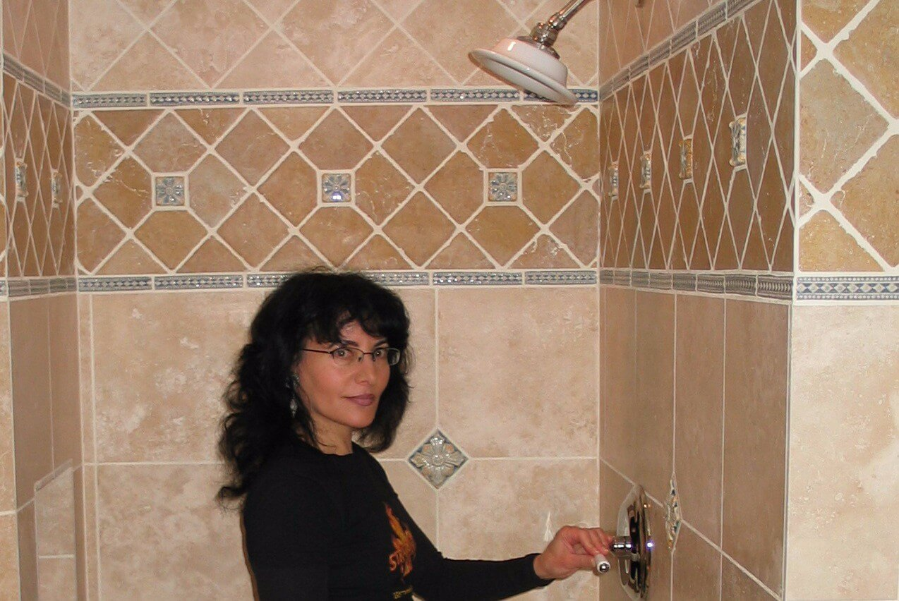 15Showcasing Sean's shower, December 2007