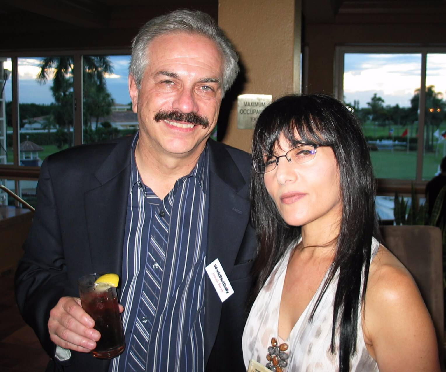 27Ilana with Joseph Farah, WorldNetDaily cocktail party, Sept 2010, Miami